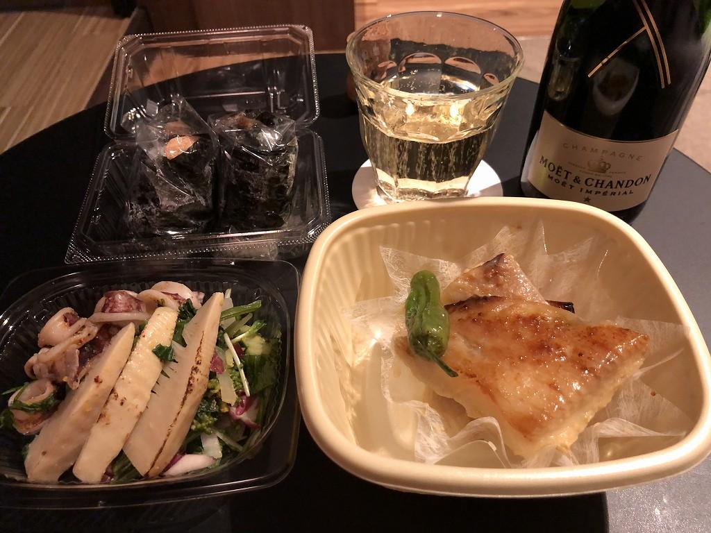 玉川高島屋の惣菜で晩飯