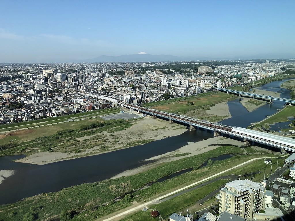 二子玉川エクセルホテル東急からの富士山3