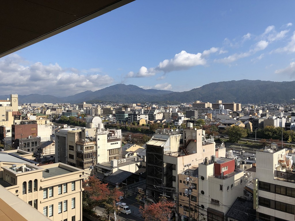 THE GATE HOTEL 京都高瀬川 by HULICのANCHOR KYOTOのテラス席からの絶景2