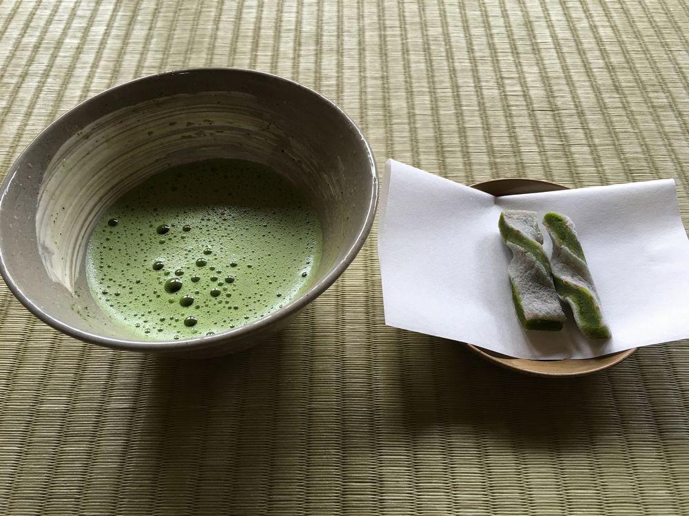 月照寺のお抹茶