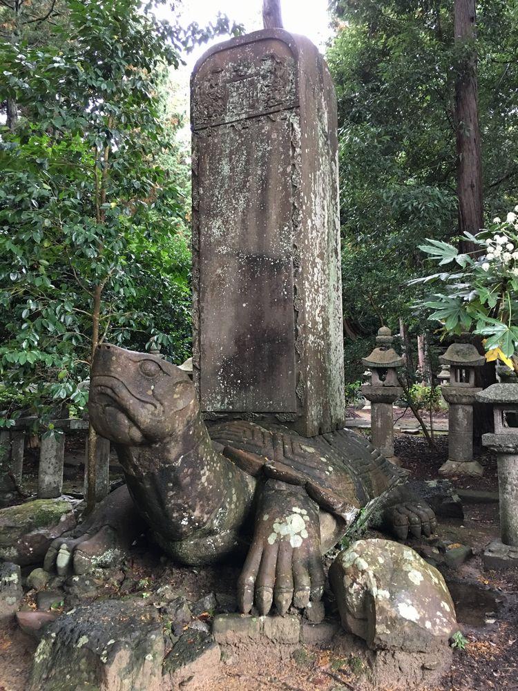 月照寺の大亀の石像