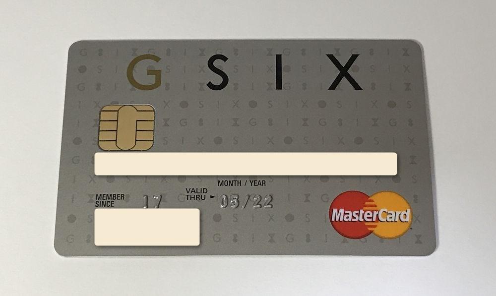 届いたGINZA SIXカードの券面デザイン