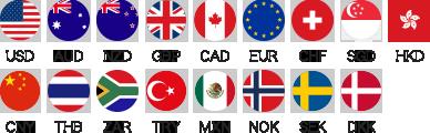 GLOBAL PASSの18通貨