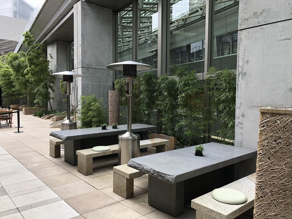 グランドハイアット東京の「六緑」のテラス席