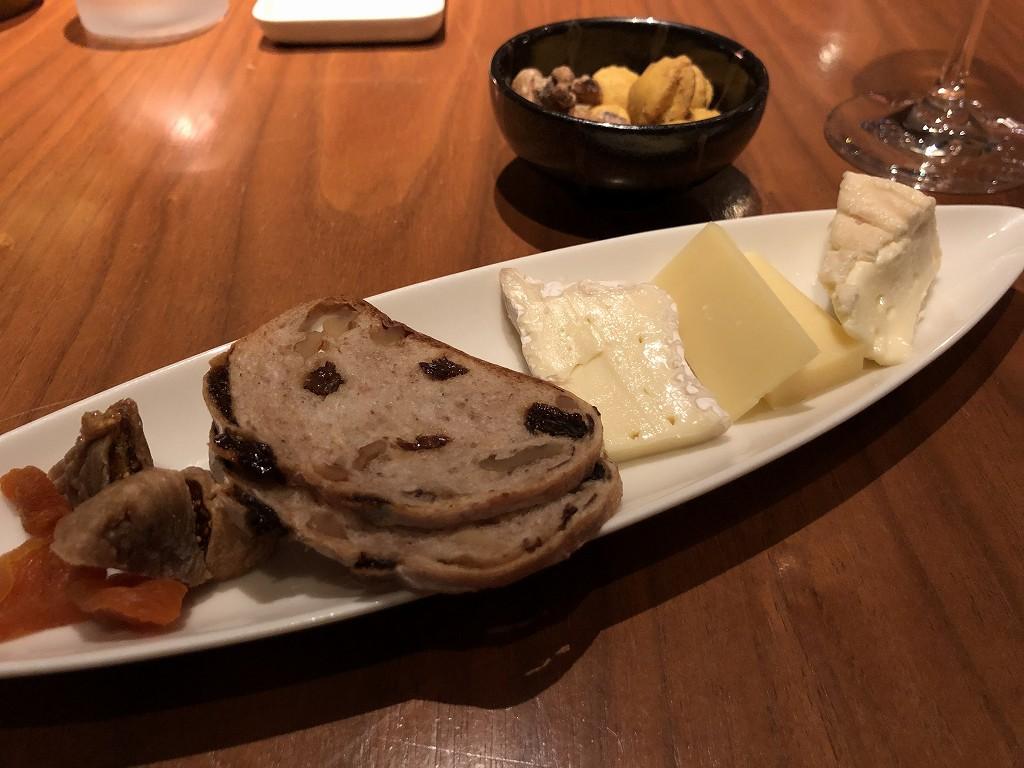 グランドハイアット東京のクラブラウンジ「グランドクラブ」のチーズセレクション