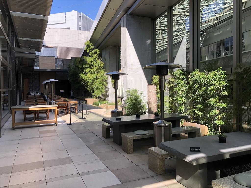 グランドハイアット東京の6階にある「六緑」のテラス席2