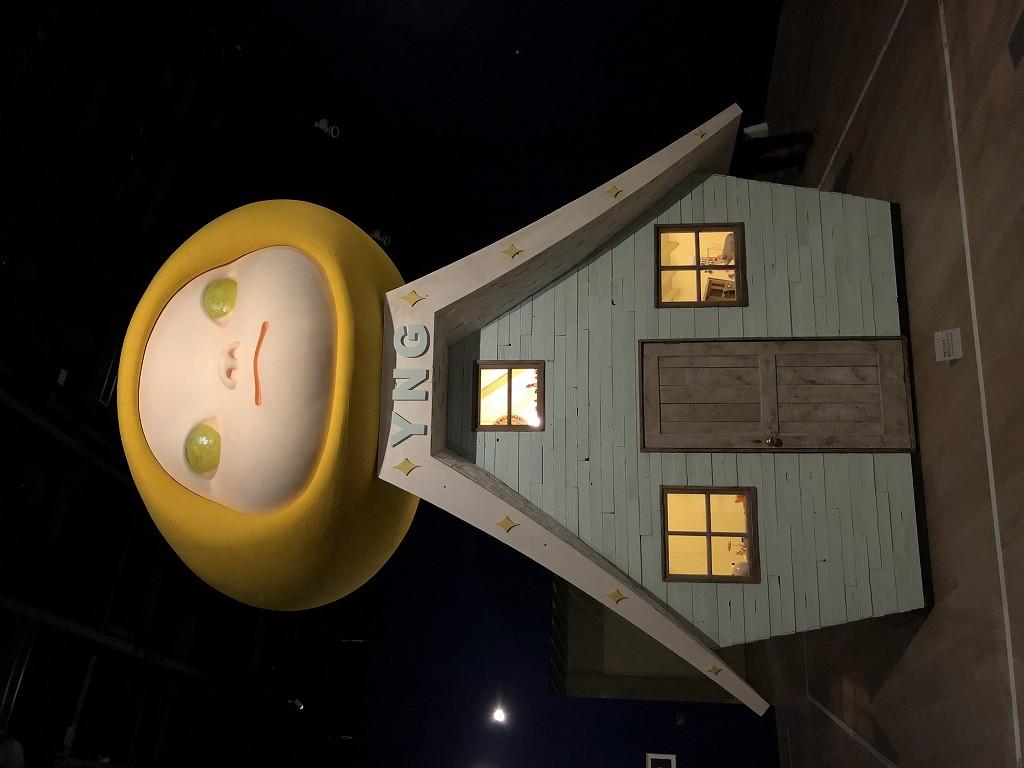 森美術館の「STARS展:現代美術のスターたち―日本から世界へ」の奈良美智の『Voyage of the Moon (Resting Moon) / Voyage of the Moon』