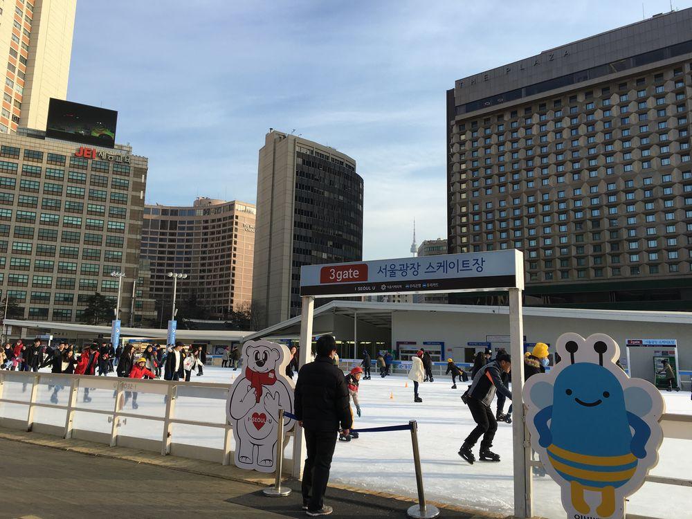ソウル広場のスケート場