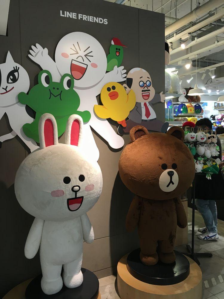 ソウルのYOUNG PLAZAのLINEショップ
