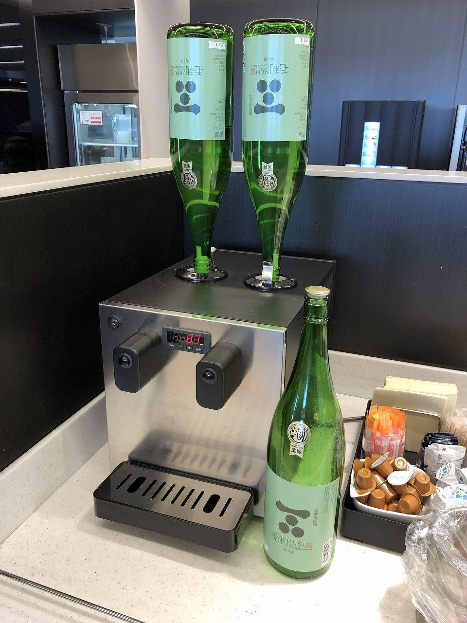 羽田空港のANA LOUNGE(本館北)の日本酒