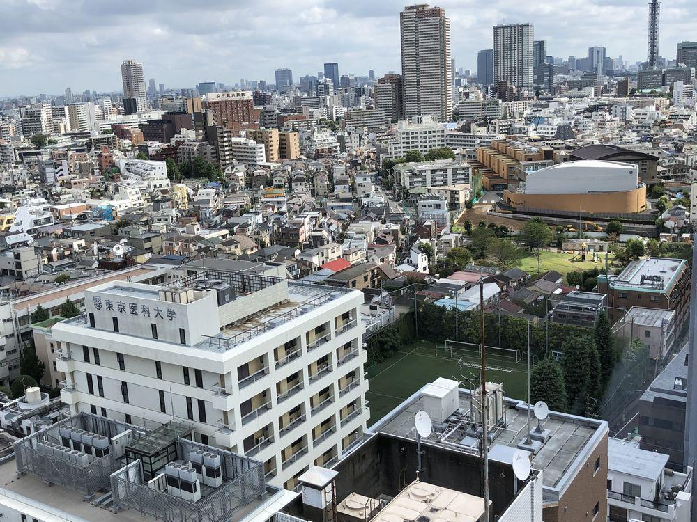 由縁 新宿の温泉ラウンジからの眺め(朝)