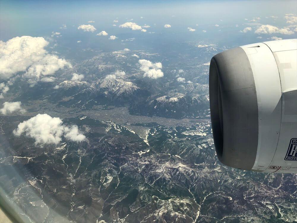 ANA553便から見た鹿角市