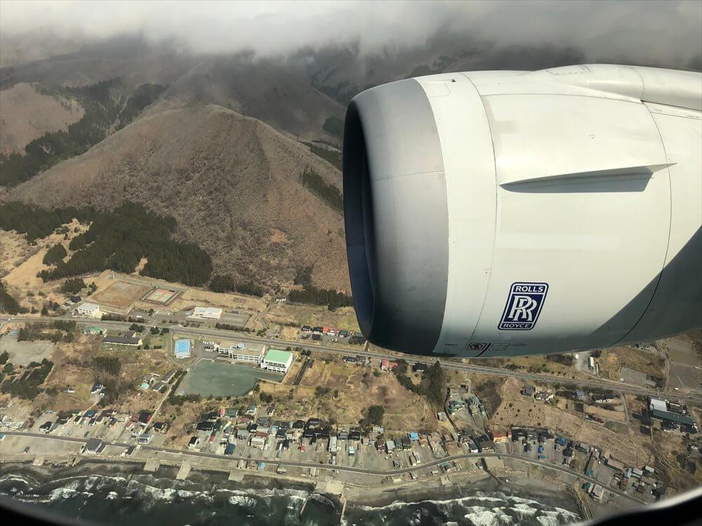 ANA553便から函館市上空1