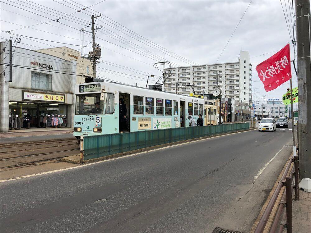 函館市電の柏木町駅1