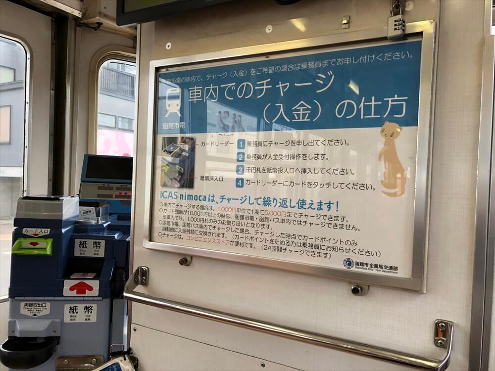 函館市電のnimoca案内