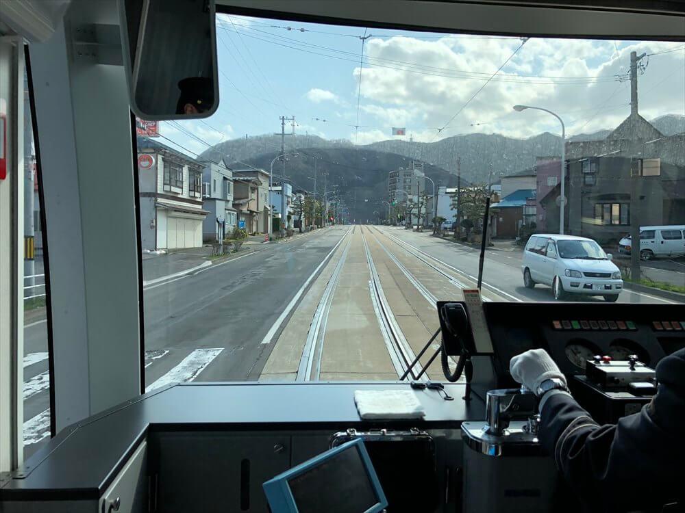 函館市電の宝来町から青柳町