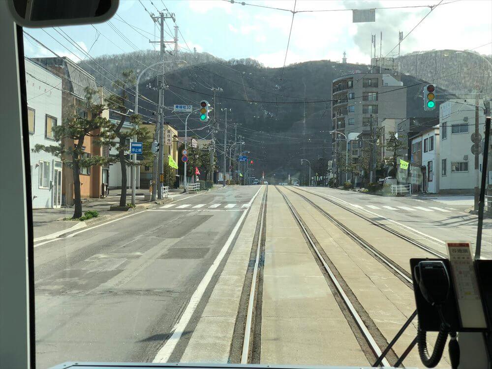 函館市電の青柳町から谷地頭へ1