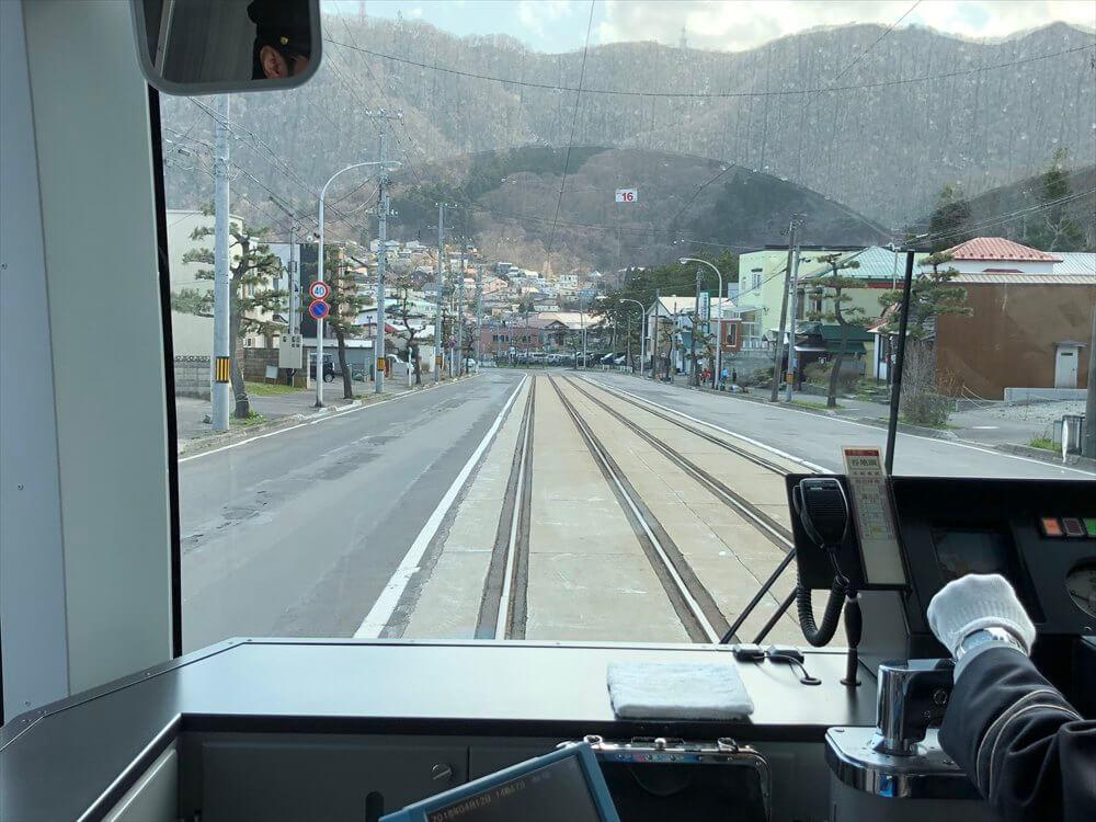 函館市電の青柳町から谷地頭へ2