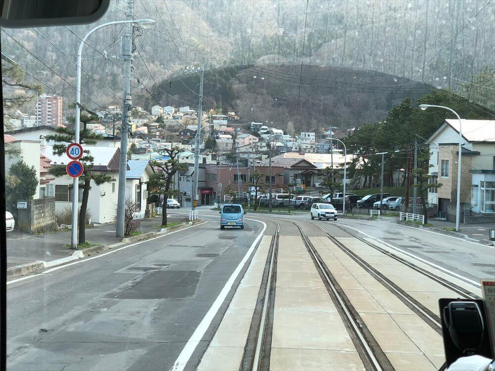 函館市電の青柳町から谷地頭へ3