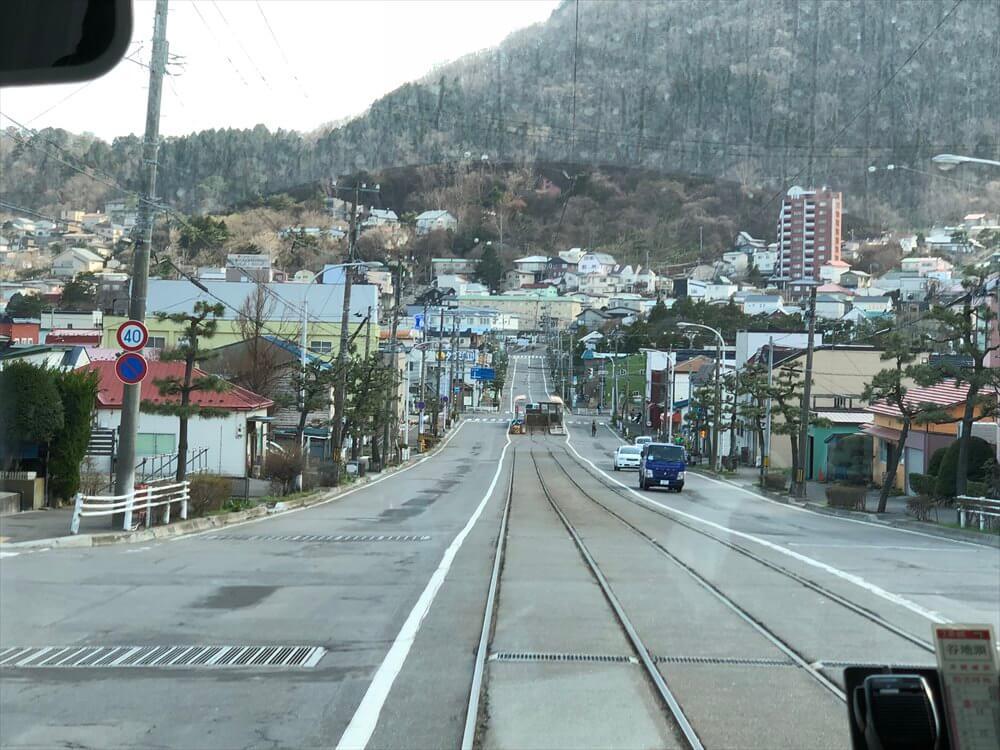 函館市電の青柳町から谷地頭へ4