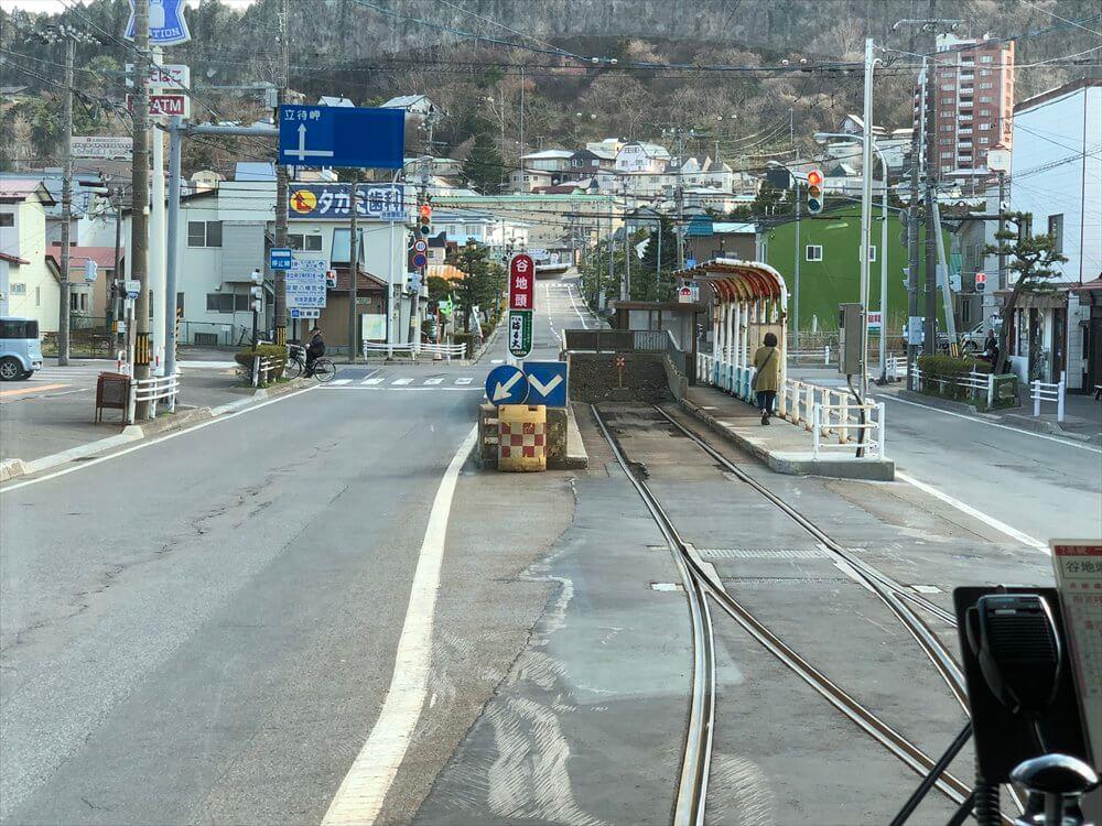函館市電の谷地頭駅