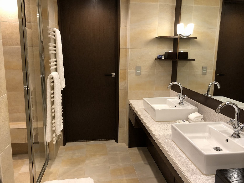 ハイアットリージェンシー箱根リゾート&スパのデラックスツインルームの洗面所