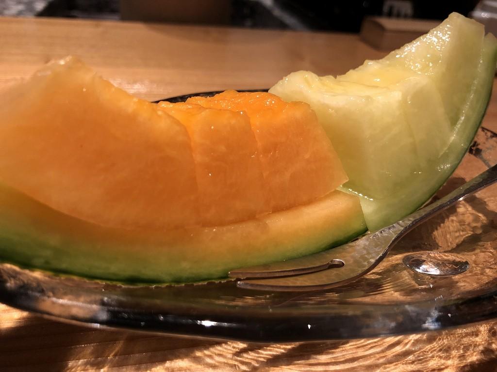 ハイアットリージェンシー箱根リゾート&スパのダイニングルーム鮨のメロン