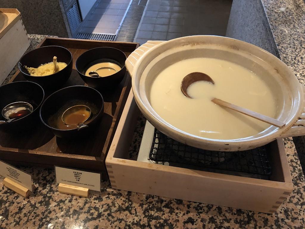 ハイアットリージェンシー箱根リゾート&スパのダイニングルームの豆乳豆腐