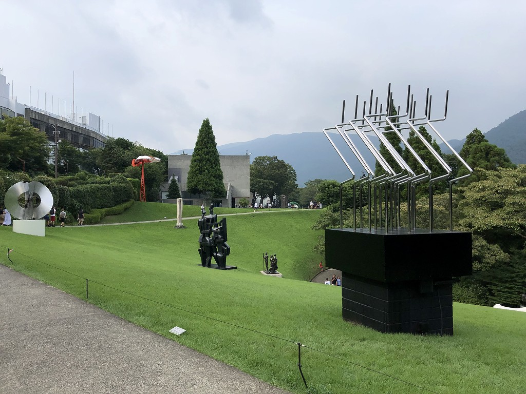 箱根彫刻の森美術館の出口付近
