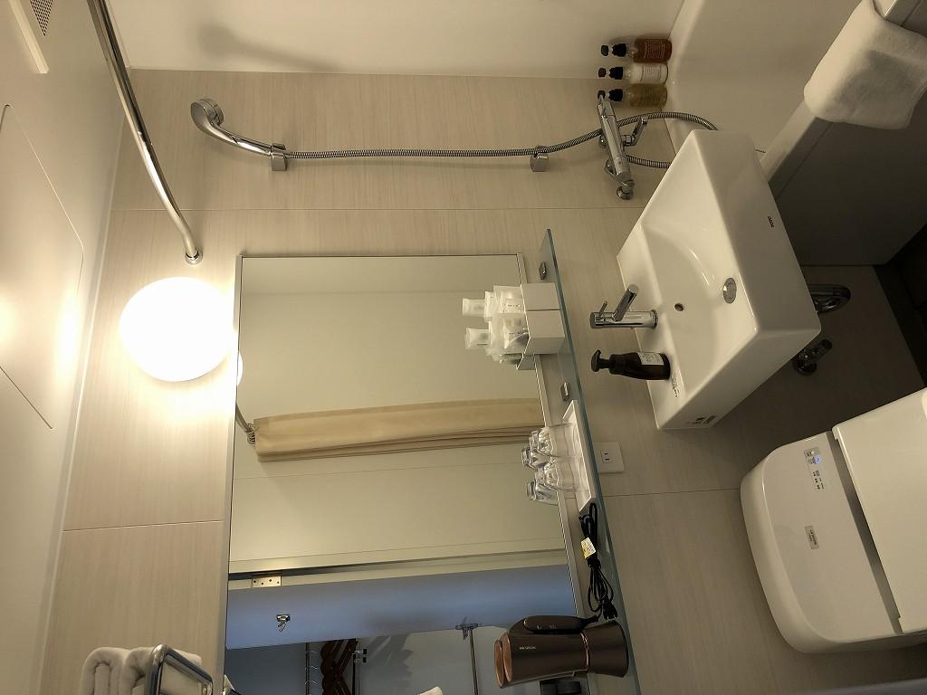 HAMACHO HOTEL TOKYOのセミダブルルームのバスルーム