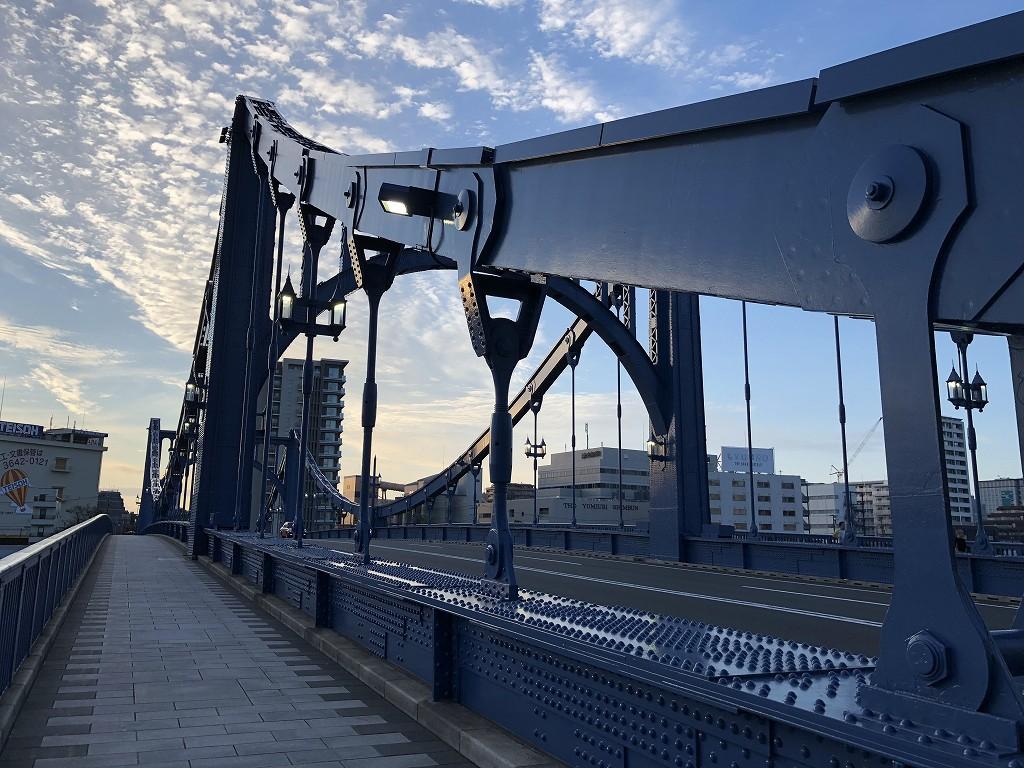 早朝の清洲橋1
