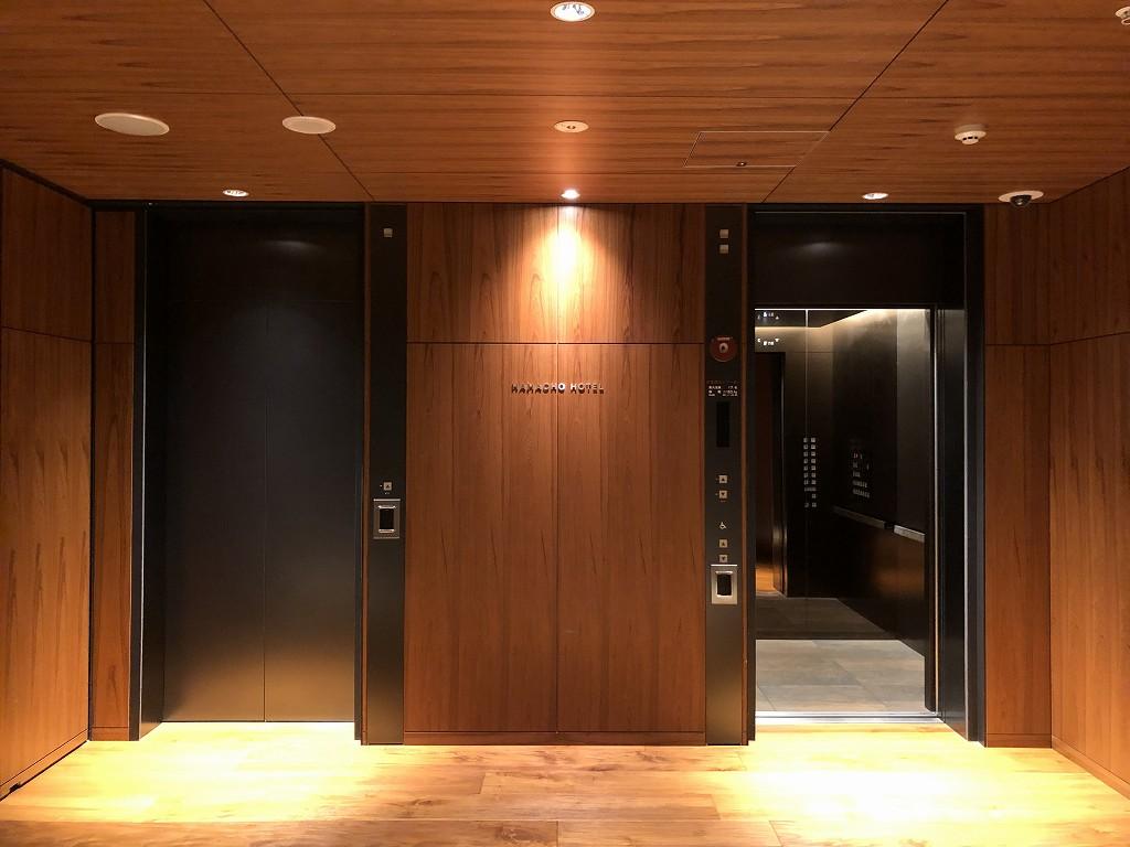 HAMACHO HOTEL TOKYOのエレベーターホール