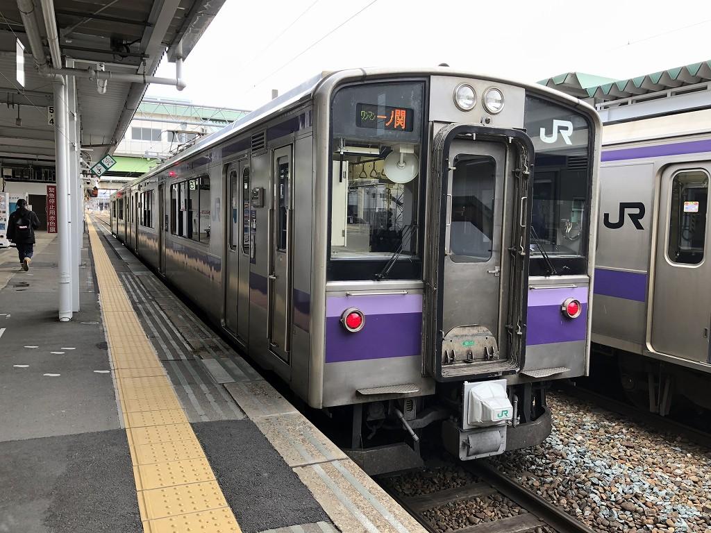 盛岡駅の東北本線の電車