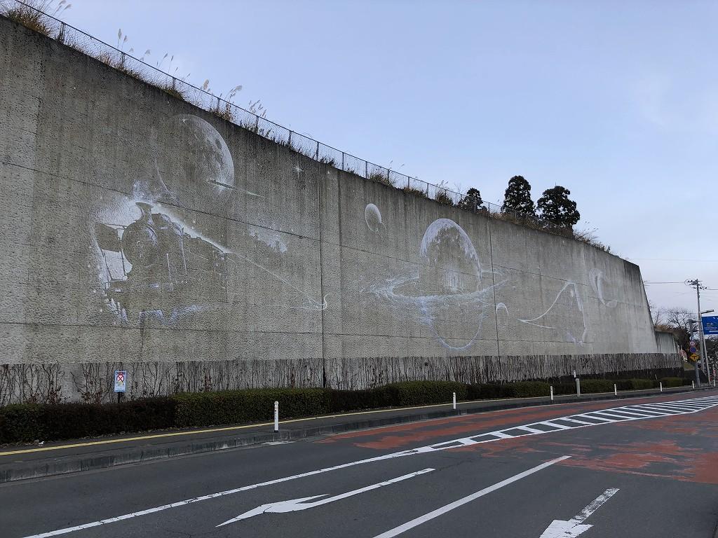 花巻の未来都市銀河地球鉄道壁画1