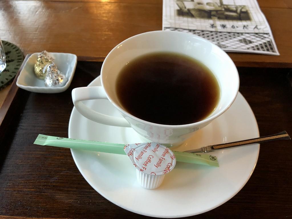 花巻の茶寮かだんのコーヒー1