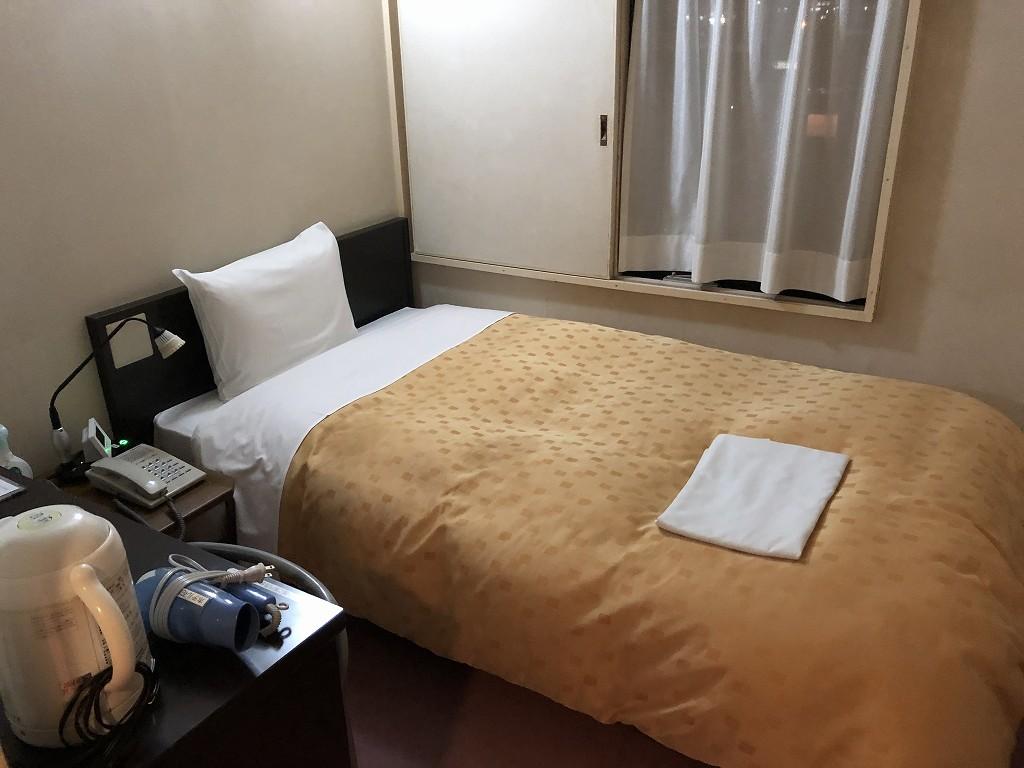 花巻のホテル花城のシングルルーム2