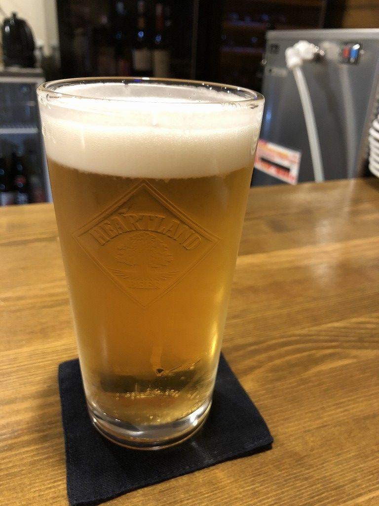 花巻のバダローネの遠野産とれたてホップの生ビール