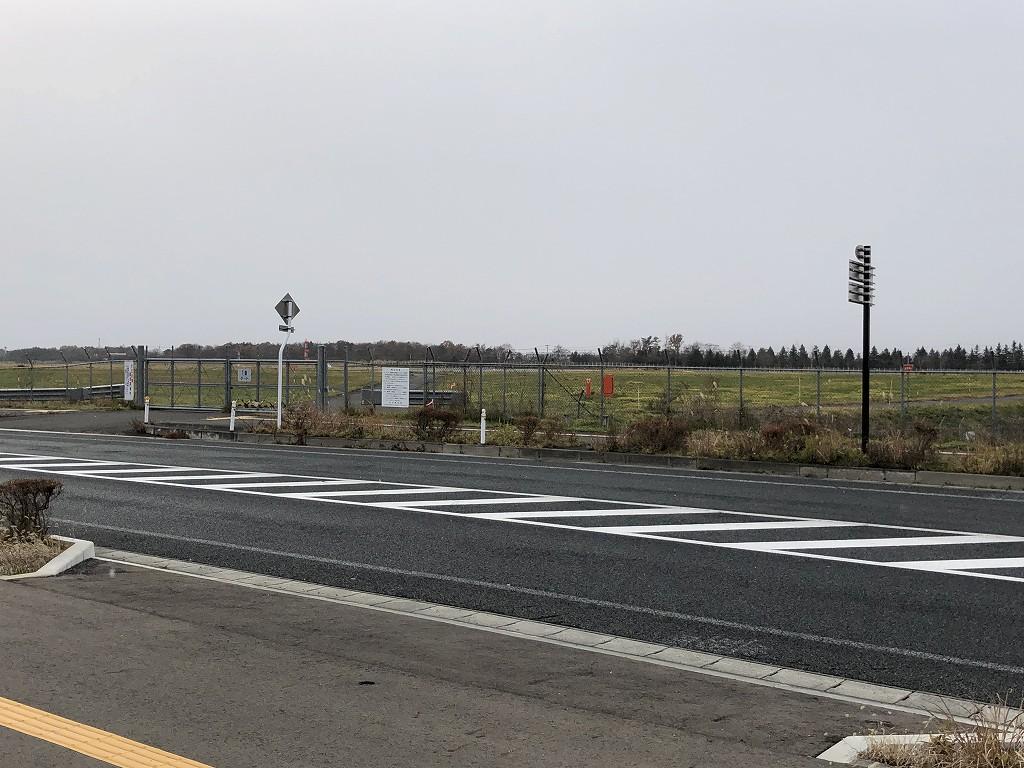 花巻空港の滑走路