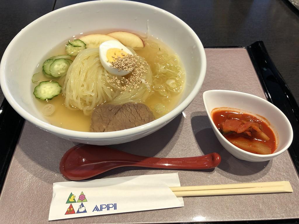 花巻空港のレストランの冷麺1