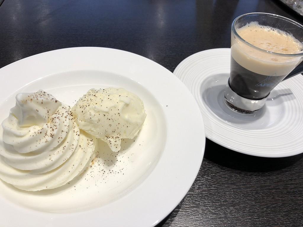 花巻空港のレストランのアフォガード