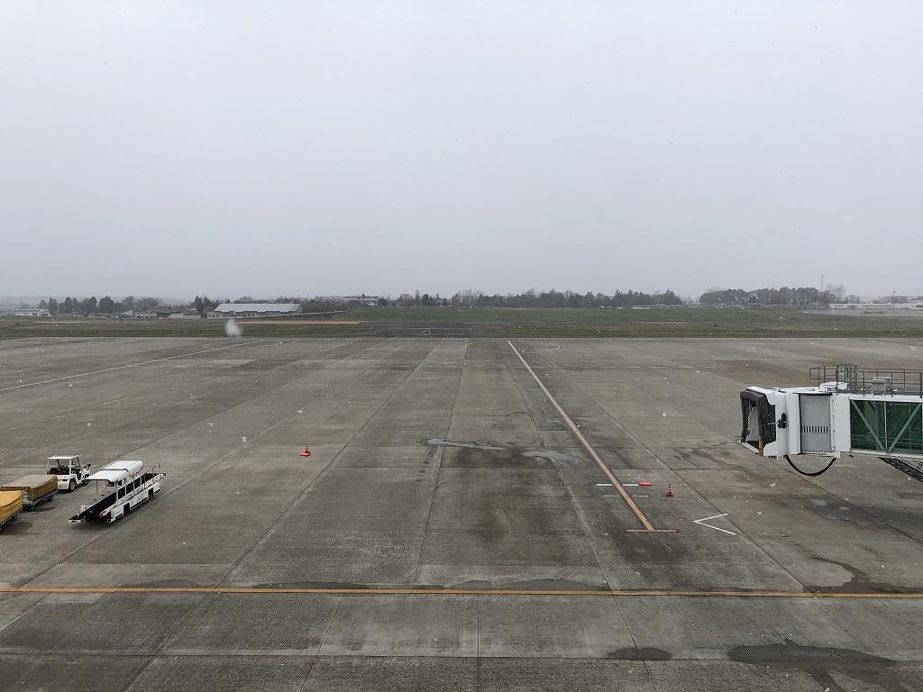 花巻空港の展望デッキ