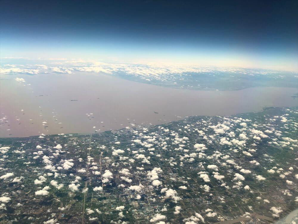 長江の濁り