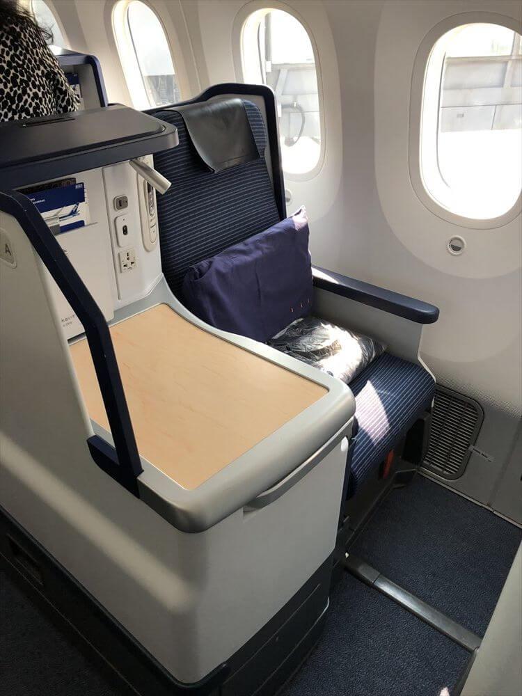 ANA857便(羽田-ハノイ)ビジネスクラスの1A座席1