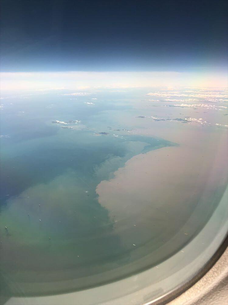 長江河口域の海の濁り