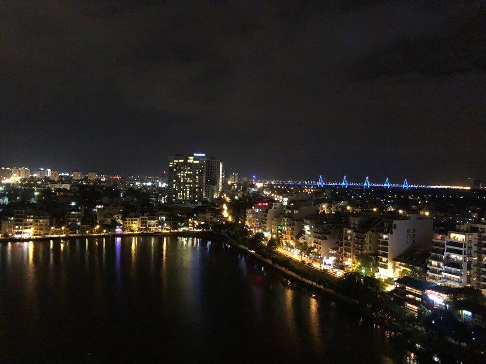 シェラトンハノイホテルのラウンジからの夜景
