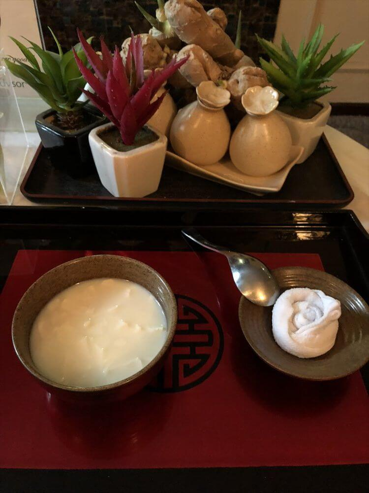Trendy Hotel & Spaの豆腐スープ
