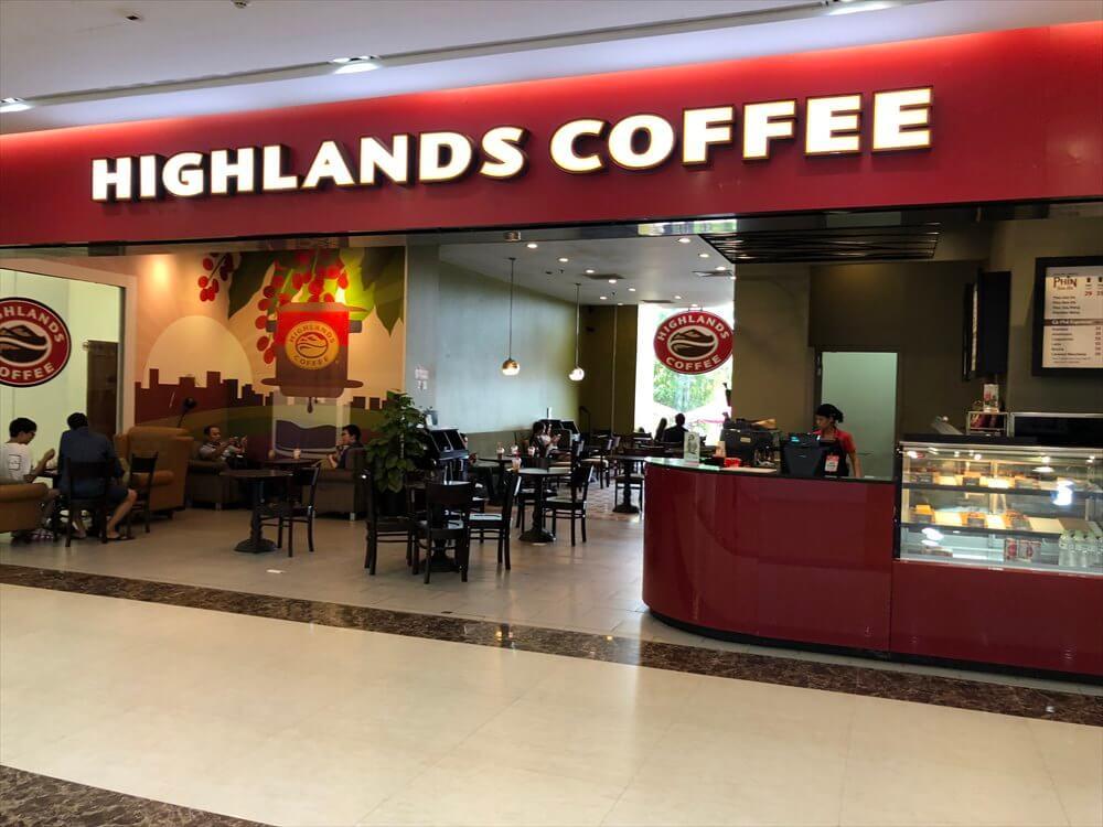ロンビエン地区のVincom Plazaのハイランドコーヒー1