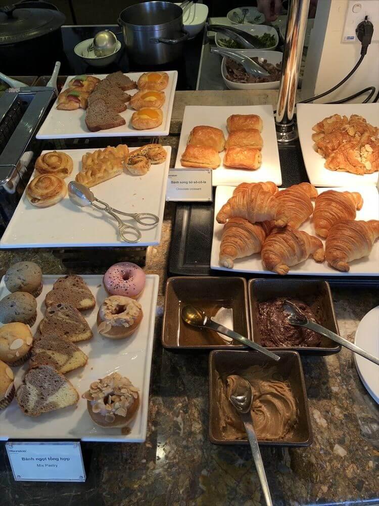 シェラトンハノイホテルのクラブラウンジの朝食4