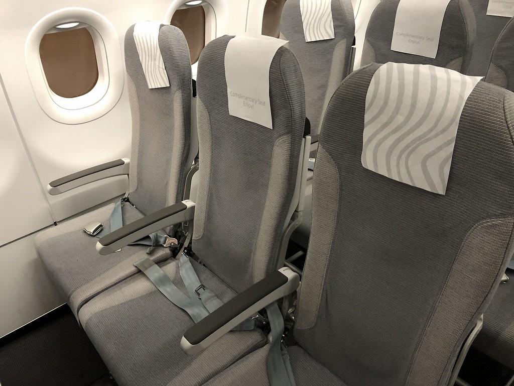 フィンエアーAY1652便のビジネスクラスの座席