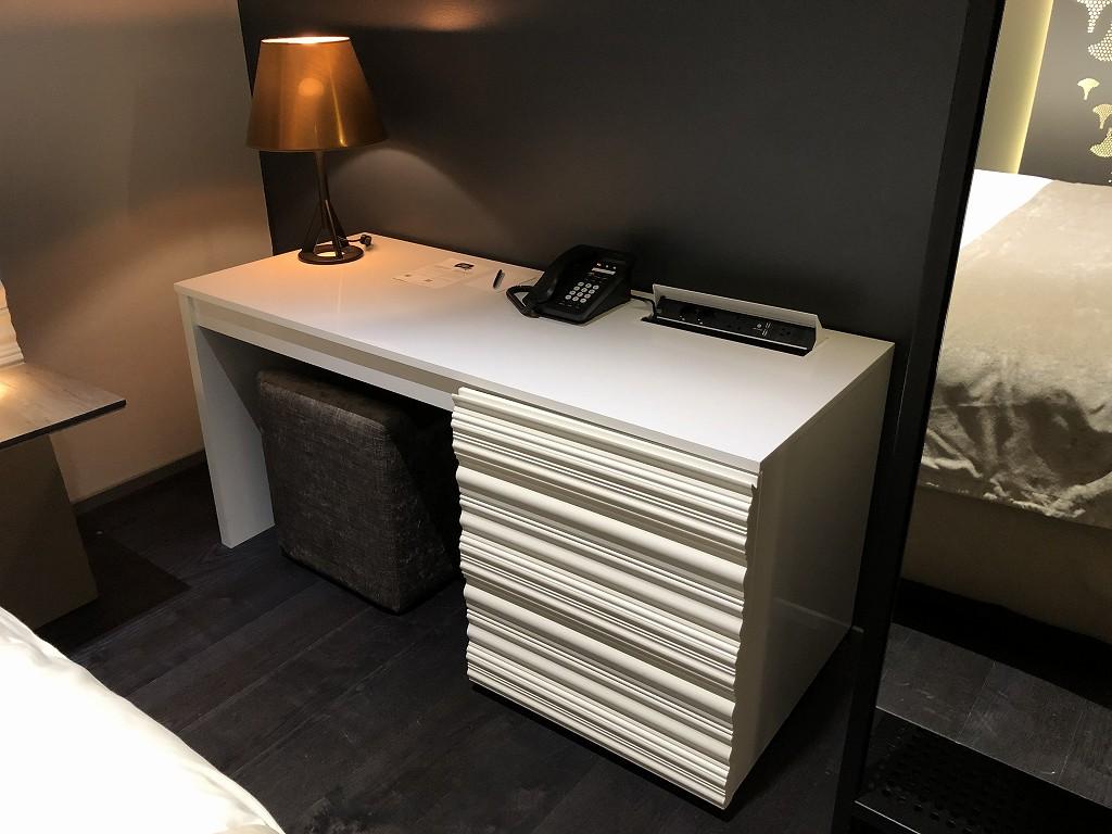 ヘルシンキ・クラウスKホテルのPassion Miniのデスク